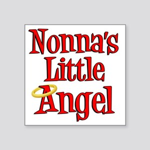 "Nonnas Little Angel Square Sticker 3"" x 3"""